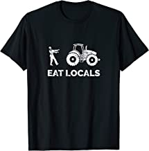 Eat Locals | Funny Zombie Farming Tractor T-Shirt