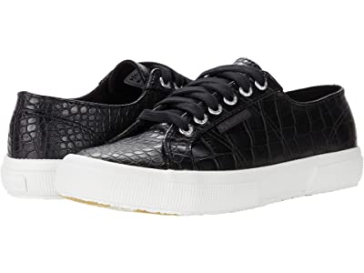 Superga 2750 Syntcrocod Sneaker (Black Croco) Women