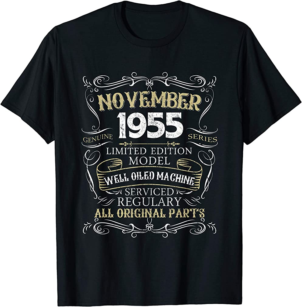 64th Birthday Born In November 1955 T-shirt 64 Years Old