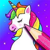 Livre de coloriage Licorne: Paillettes Licorne peinture Jeux de pour enfants, application de Dessin pour les filles et les garçons 🌈🦄🎨 - Unicorn coloring book, games & app