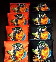 BackYardGamesUSA Parrot Head Buffet Fans Margaritaville 8 ACA Regulation Cornhole Bean Bags B282