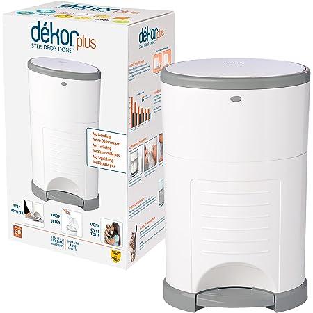 Dekor Plus Hands-Free Diaper Pail, White