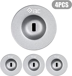 I3C Anchor Plate Adhesive Security Plate Universal Lock Plate for Loptop Lock, Cable Lock,iPhone Smart Phone, MacBook Pad Ipad, Tablet, Other Electronic Products Silver 4 Pack