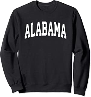 Alabama Crewneck Sweatshirt Sports College Style State USA.