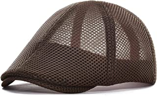 VOBOOM Men Mesh Newsboy Cap Breathable Summer Hat