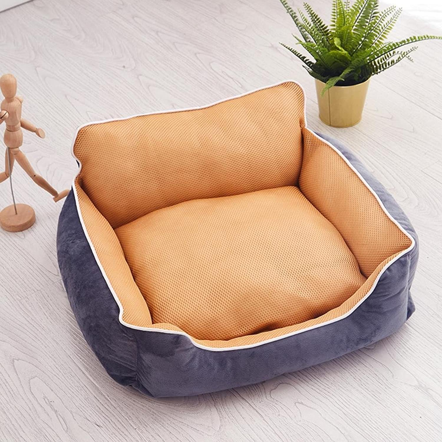 BiuTeFang Pet Bolster Dog Bed Comfort Pet Kennel mat resistant to washable