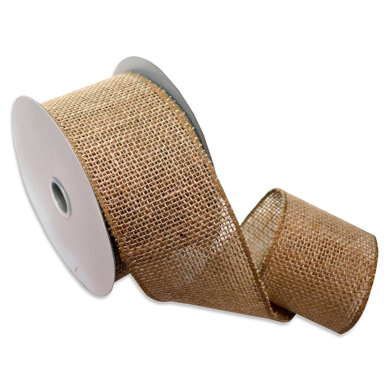 Morex Ribbon Burlap Wired ibbon, 2.5