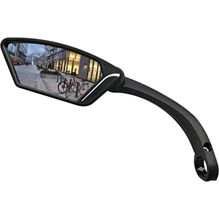 MEACHOW New Scratch Resistant Glass Lens,Handlebar Bike Mirror, Rotatable Safe Rearview Mirror, Bicycle Mirror,ME-002