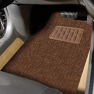 Autofurnish Anti Skid Curly Car Foot Mats (Tan Black) Universal