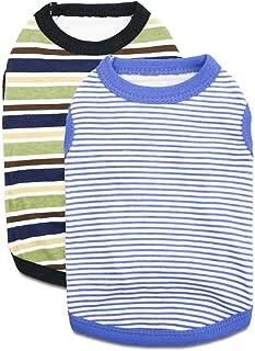 DroolingDog Pet Dog T Shirts Small Dog Cotton Clothes, Pack of 2