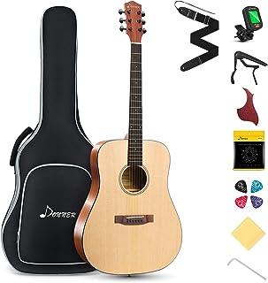Donner Acoustic Guitar for Beginner Adult Full Size Dreadnought Acustica Guitarra Starter Bundle Kit with Gig Bag Strap Tu...