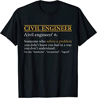 Mens Funny CIVIL ENGINEER definition Birthday or Christmas Gift T-Shirt
