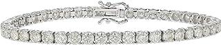 8 cttw SI2-I1 Certified Classic Diamond Bracelet 14K White Gold
