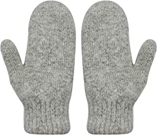 Women Winter Wool Knitted Gloves Full Finger Fleece Lined Hand Warmer Mittens