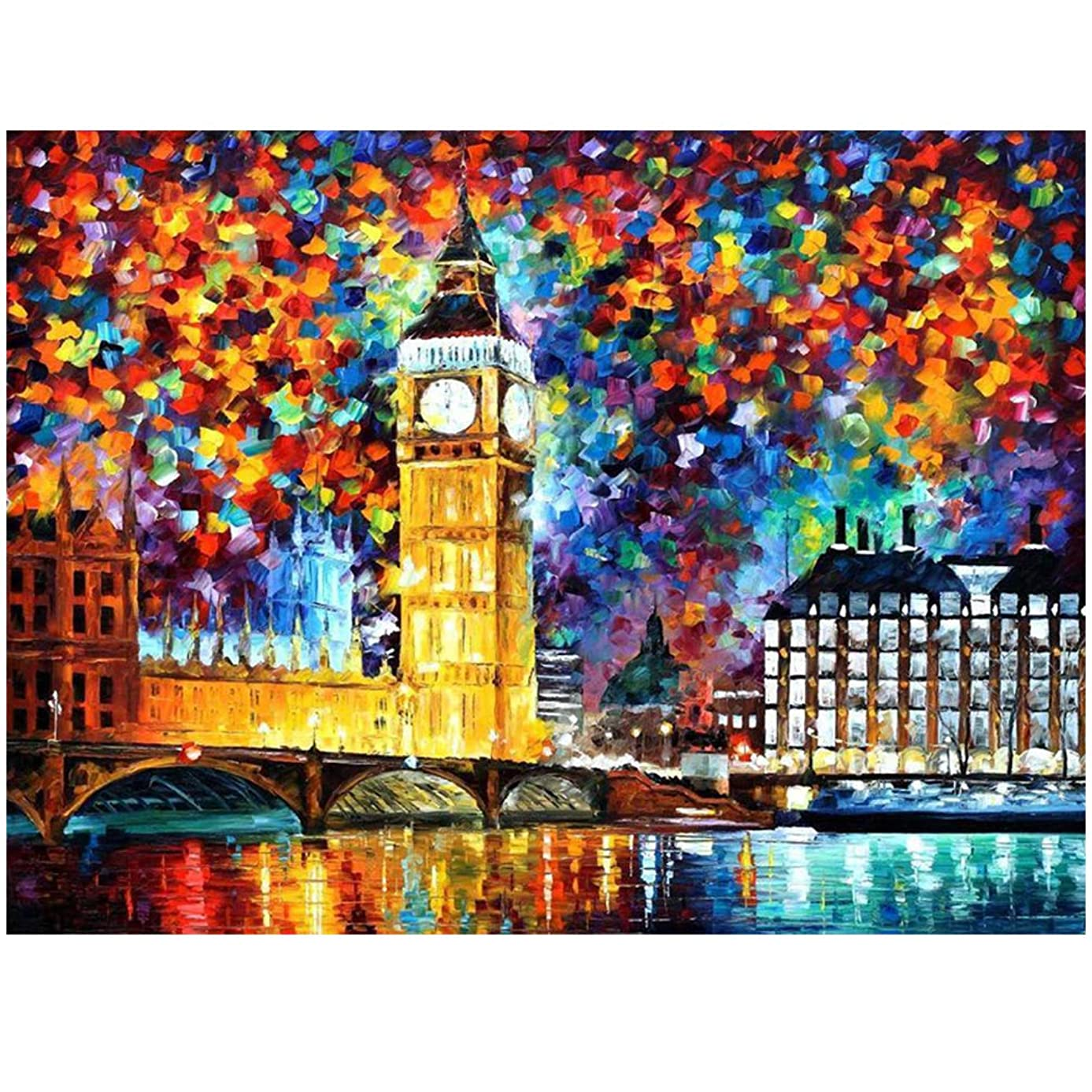 """Madealer Square 5D Diamond Painting Kits for Adults Full Drill Large 16""""X20""""-Big Ben"""