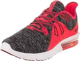 Nike Women's Air Max Sequent 3 Black/Red Crush/White Running Shoe 9 Women US