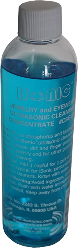 ISonic CSGJ01 8OZx1 Ultrasonic Jewelry Eye Wear Cleaning Solution Concentrate