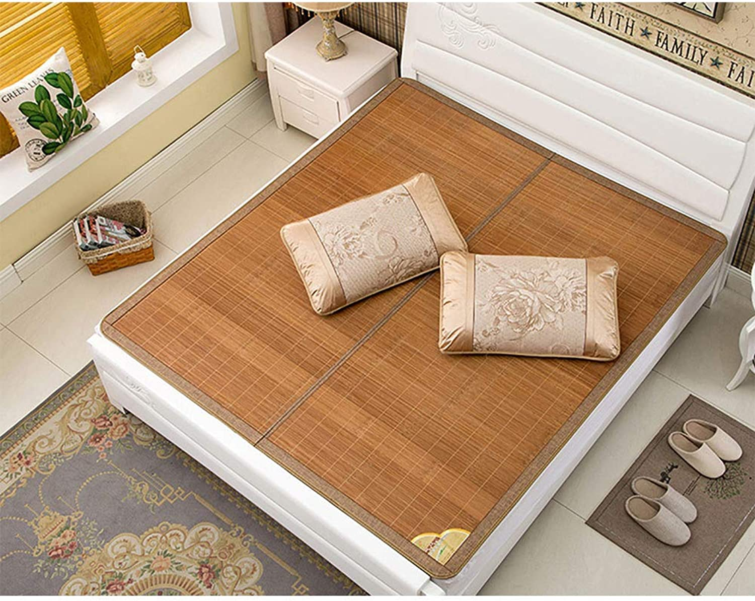 Bamboo Mattress Bamboo Cool Mattress Bamboo mat Can be Folded Cool Sleeping mats,1.8  2m