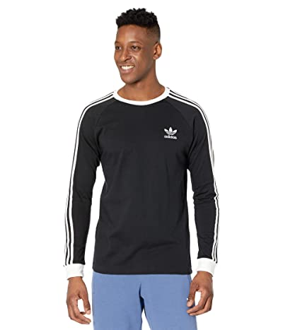 adidas Originals 3-Stripes Long Sleeve Tee (Black 3) Men