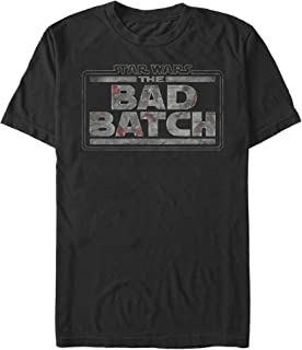 STAR WARS Men's Clone Wars: Bad Batch Title Logo T-Shirt