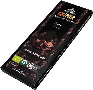 Qumir organic fine dark chocolate   Pure Dark 66% Cacao   made with amazon arriba cacao beans   1Bar, 2.47oz