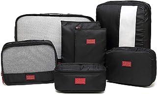 AEDOアレンジケース トラベルポーチ 7点セット 軽量 防水 大容量 旅行 出張 旅行 便利グッズ 整理用衣類収納2個 靴バッグ1個 洗面用具入れ1個 小物ポーチ2個 PC周辺小物用ポーチ1個