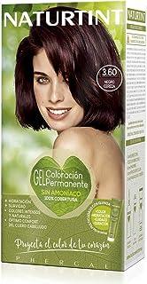 Naturtint Coloración dermoprotectora con tratamiento CC Cream, tono 3.60 Negro Cereza - 212 gr