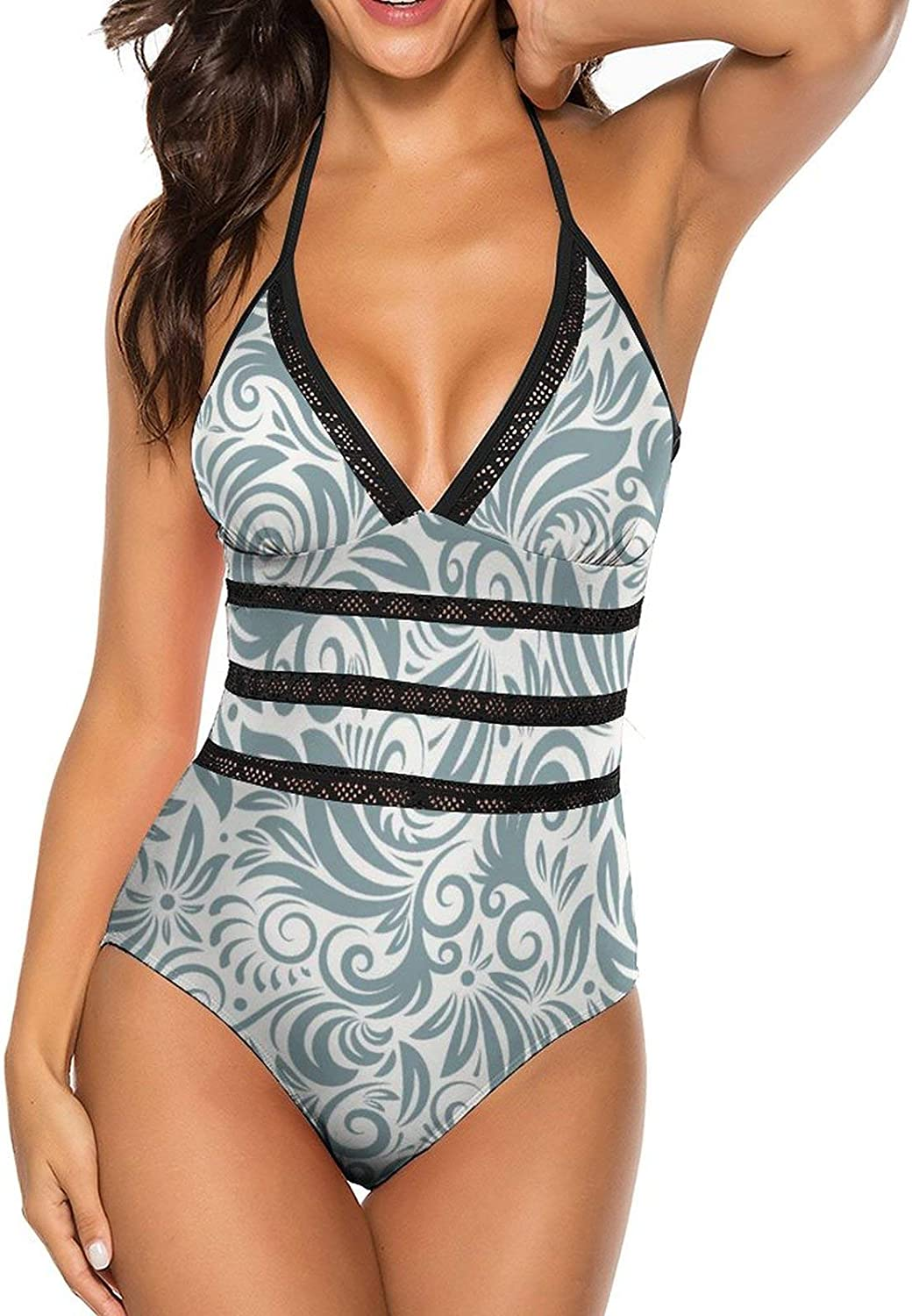 Avini Women's Popularity One Piece Swimsuits with Neck Straps V 5 ☆ popular Hollow Sexy