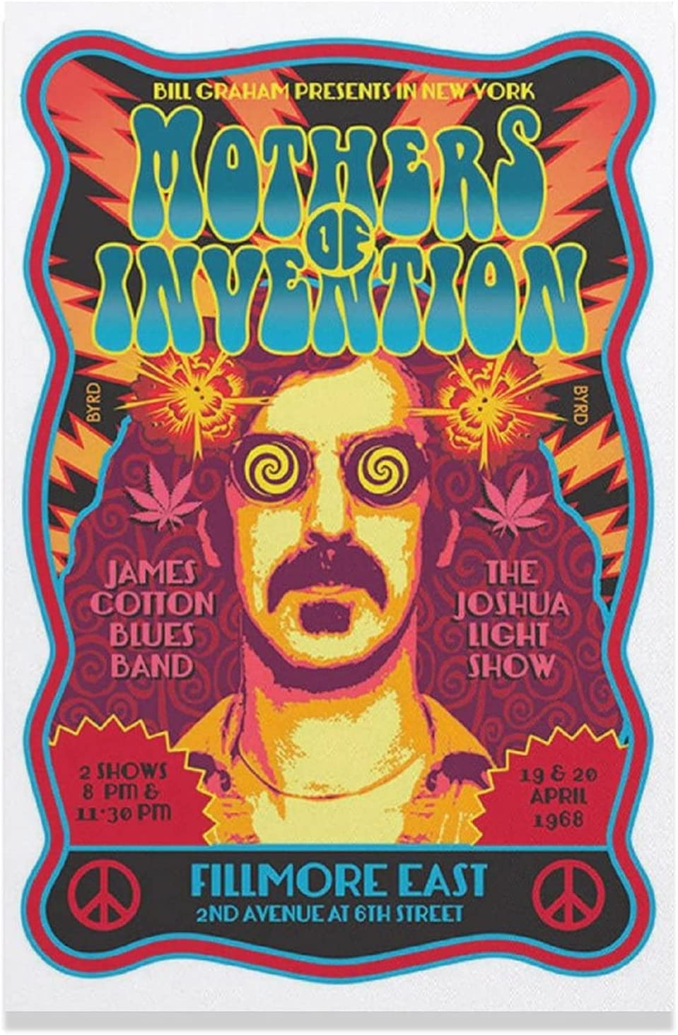 The Mothers of Invention Frank A sold 2021 new out Poster Zappa Wall Canvas
