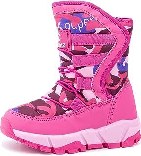 UBFEN Kids Women Snow Boots Girls Winter Warm Waterproof Outdoor Slip Resistant Cold Weather Unisex Shoes (Toddler/Little Kid/Big Kid)