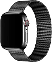 Mediatech Compatible with Apple Watch Bands 44mm 42mm 40mm 38mm Stainless Steel Wristband Mesh Loop Magnetic Closure Adjus...