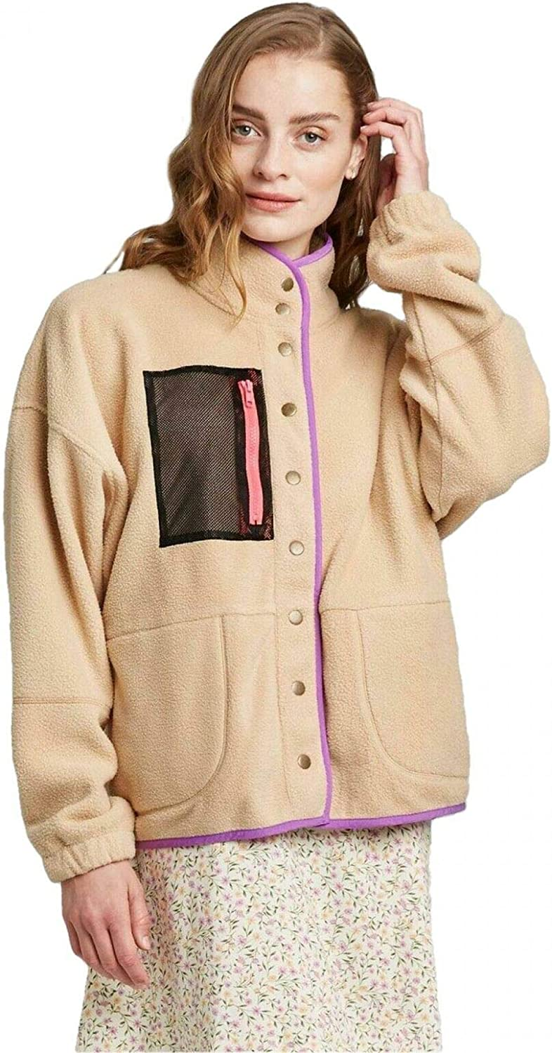 lowest price Wild Fable Women's Snap Front Faux Fur Jacket Mail order Sherpa