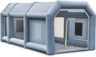 BuoQua Cabina de Pintura Inflable 8 x 4 x 3 M Carpa Hinchable para Coche Tienda Inflable Cabina de Estacionamiento de Pintura Tienda Inflable de Campaña Cabina Inflable para Pintar el Coche