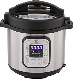 SilverOnyx 10-in-1 Programmable Pressure Cooker 6 Quarts with Stainless Steel Pot,..