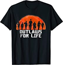 Outlaws For Life orange Moon Silhouette T Shirt RDR2