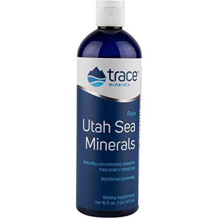 Trace Minerals Utah Sea Minerals, 16-Ounce, Naturally Occuring Minerals, Sport Electrolyte Replacement Drink, Salt Seasoning