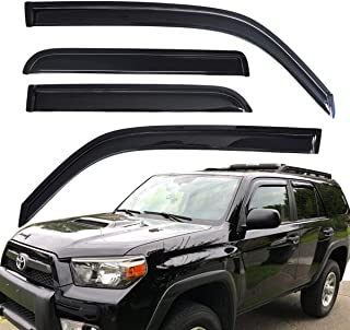 Lightronic WV94242 Tape-on Window Visors Rain Guards Smoke Tint 4PCS Set Fit for 2010-2020 Toyota 4Runner