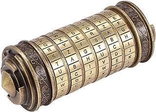 Phonleya Bloqueo de código Da Vinci Cryptex - Cerradura de amante de aleación de zinc retro romántica creativa Caja de reg...