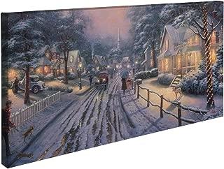 Thomas Kinkade Hometown Christmas Memories 16 X 31 Gallery Wrapped Canvas