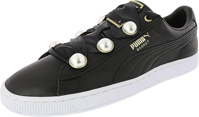 PUMA Women's Basket Bling Leather Fashion Sneaker