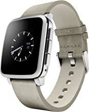 Pebble Time Steel Smartwatch for Apple/Android Devices – Silver