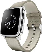 Smartwatch Pebble Technology para dispositivos Apple y Android, Plateado