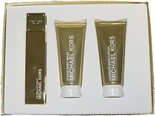 MICHAEL KORS 24K Brilliant Gold Set. 3.4 EDP+3.4B/L+3.4 BODY WASH