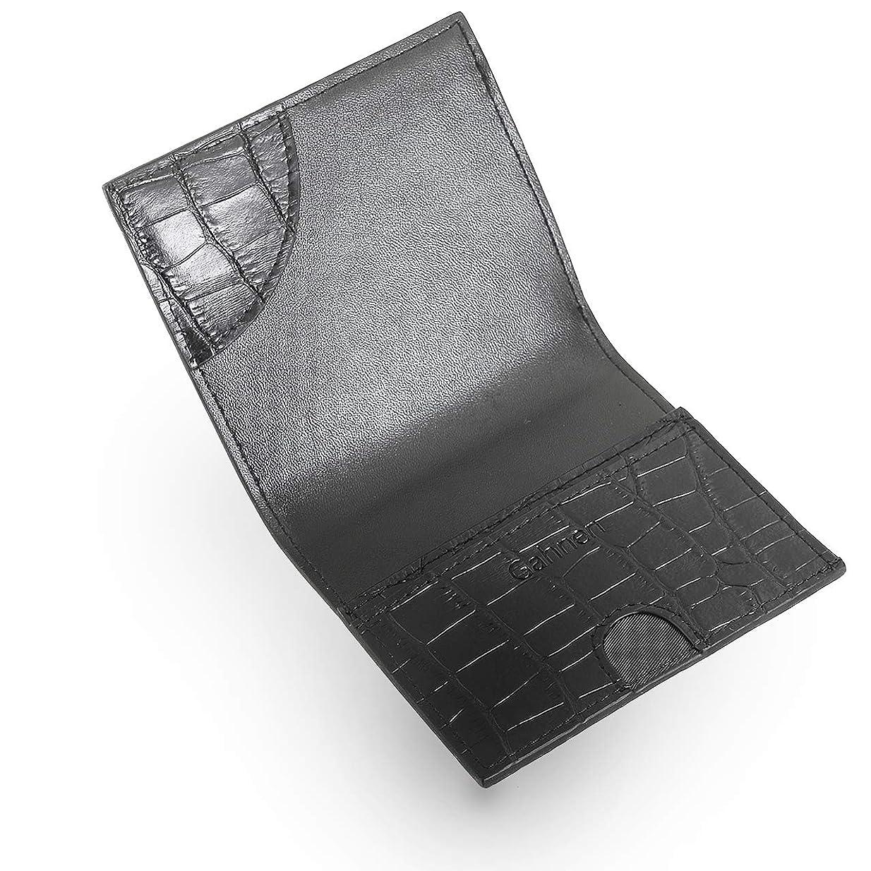 必要ない社会編集者[ゲーネン] 薄い 小さい 使いやすい 二つ折り 財布 メンズ 本革