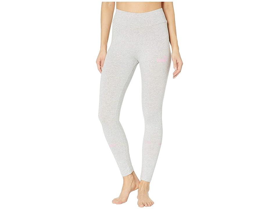 PUMA Amplified Leggings (Light Grey Heather/Pale Pink) Women