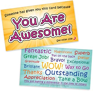 You are Awesome Cards — Box of 250 - Appreciation Cards for Teachers, Employers, Friends, Co-Workers, Family