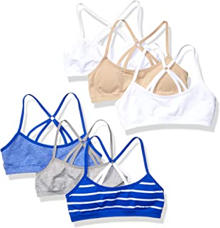 Hanes Girls' Big Strappy Back Bra 6-Pack