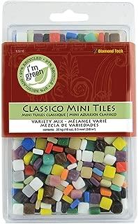 Diamond Tech 63016 16-Ounce Jennifer's Mosaics Assorted Classico Glass Tile, Mini
