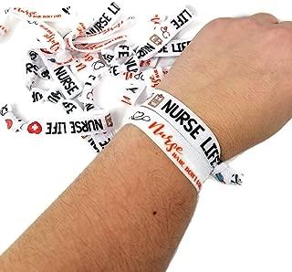10 Nurse themed - Wrist Bands- Bracelets- Hair ties (Cinch Free), RN, LPN, graduate- Nurse gift INCLUDES: 5 of each style
