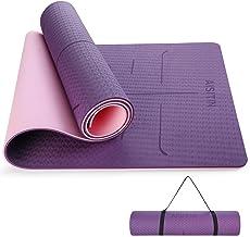 AISITIN Yoga Mat Grote Yoga Mat Paars 8mm TPE Eco Vriendelijke Antislip Fitness Oefenmat met Draagriem Workout Mat voor Yo...
